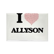 I love Allyson (heart made from words) des Magnets