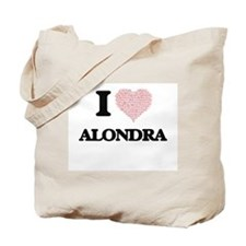 I love Alondra (heart made from words) de Tote Bag