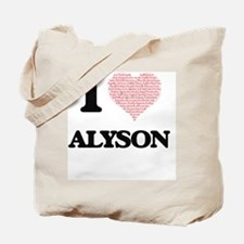 I love Alyson (heart made from words) des Tote Bag
