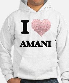 I love Amani (heart made from wo Hoodie