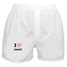 I love Amani (heart made from words) Boxer Shorts