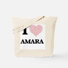 I love Amara (heart made from words) desi Tote Bag