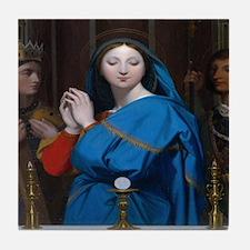 Virgin Of The Host Tile Coaster