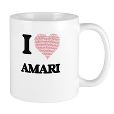 I love Amari (heart made from words) design Mugs