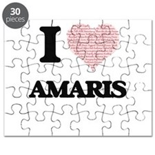 I love Amaris (heart made from words) desig Puzzle