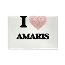 I love Amaris (heart made from words) desi Magnets