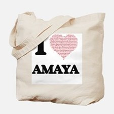 I love Amaya (heart made from words) desi Tote Bag