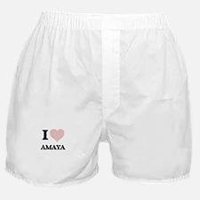 I love Amaya (heart made from words) Boxer Shorts