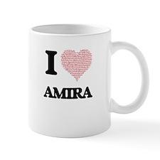 I love Amira (heart made from words) design Mugs