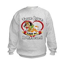 Love your rescue dog Sweatshirt