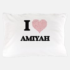 I love Amiyah (heart made from words) Pillow Case