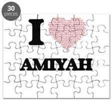 I love Amiyah (heart made from words) desig Puzzle