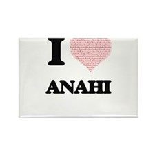 I love Anahi (heart made from words) desig Magnets