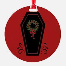 Vampire Holiday Coffin Ornament