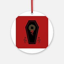 Vampire Holiday Coffin Round Ornament
