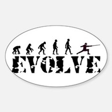 Fencing Evolution Oval Decal