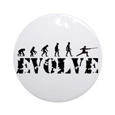 Fencing Evolution Ornament (Round)