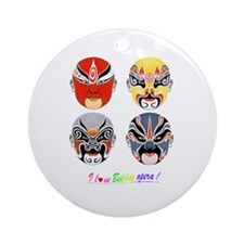 Funny Face mask Ornament (Round)