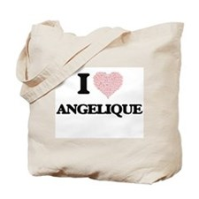 I love Angelique (heart made from words) Tote Bag
