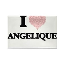 I love Angelique (heart made from words) d Magnets