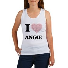 I love Angie (heart made from words) desi Tank Top