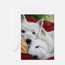 Cool Westie art Greeting Cards (Pk of 20)