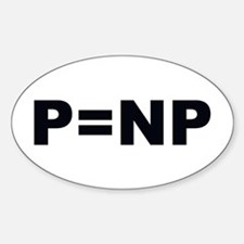 P=NP Oval Decal