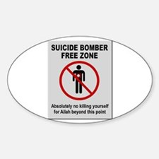 Suicide Bomber Free Zone Decal