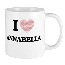 I love Annabella (heart made from words) desi Mugs
