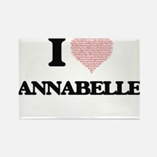 I love Annabelle (heart made from words) d Magnets