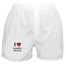 I love Marvin Beach Connecticut Boxer Shorts