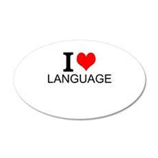 I Love Languages Wall Decal