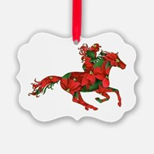 Christmas Horse Cowgirl Ornament