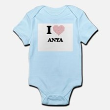I love Anya (heart made from words) desi Body Suit