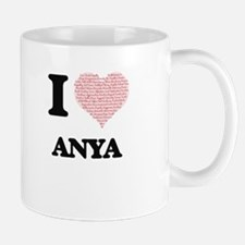 I love Anya (heart made from words) design Mugs