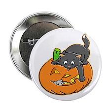 Pumpkin Cat Button
