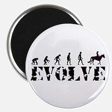 Horse Rider Caveman Magnet