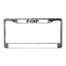 P!=NP License Plate Frame