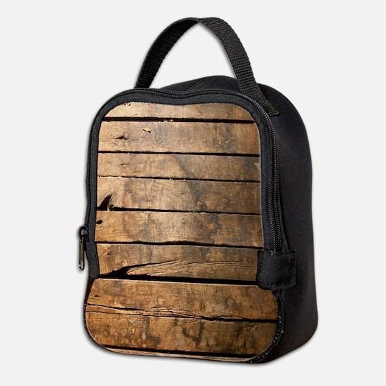 Wood Neoprene Lunch Bag