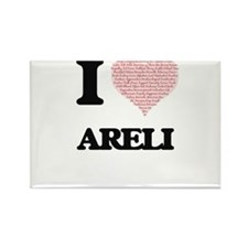 I love Areli (heart made from words) desig Magnets