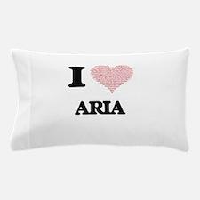 I love Aria (heart made from words) de Pillow Case