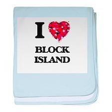 I love Block Island Rhode Island baby blanket