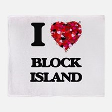 I love Block Island Rhode Island Throw Blanket