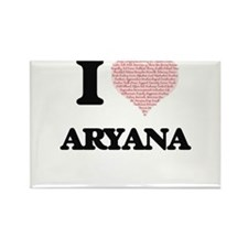 I love Aryana (heart made from words) desi Magnets