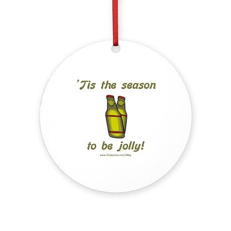 Xmas Beer Cheer Ornament (Round)