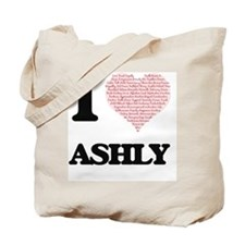 I love Ashly (heart made from words) desi Tote Bag