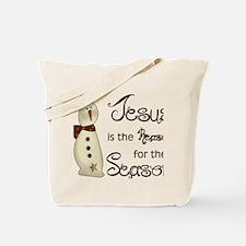 Funny Religious christmas Tote Bag