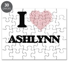 I love Ashlynn (heart made from words) desi Puzzle