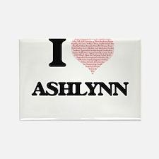 I love Ashlynn (heart made from words) des Magnets