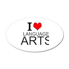 I Love Language Arts Wall Decal